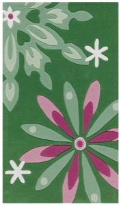Dětský koberec Arte Espina Květy zelená - 90x150
