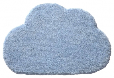 Vlněný dětský koberec BellyButton mráček modrý - 60x100