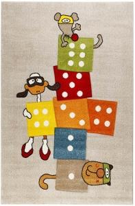 Dětský koberec Sigikid Skákací panák šedý - 133x200